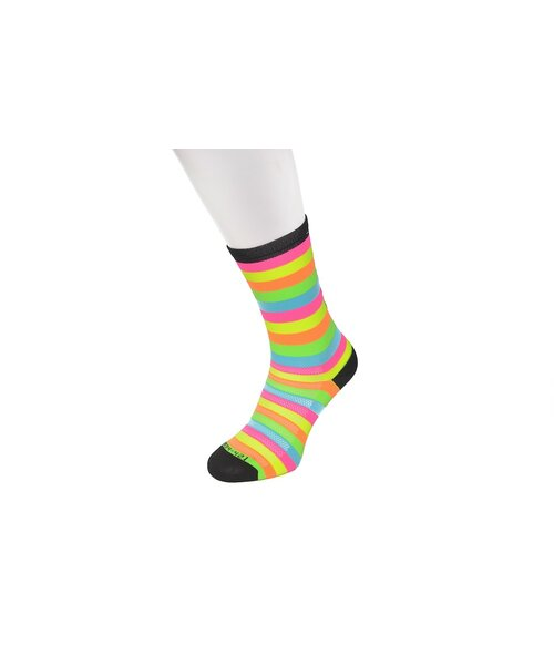 Sportsocken PALLETT neon/gestreift